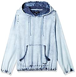 Pepe Jeans Womens Cotton Sweatshirt (PILT200027_Lt-Blue_Large)
