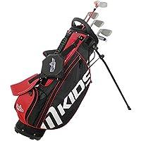 MKids Golf Junior Lite Pacchetto Set di borsa con supporto legno fairway, legno e metallo, 6e 8Ferri, Pitching Wedge, SLA Putter e mazze in rosso 53