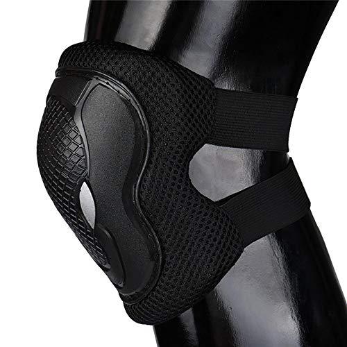 Shuxinmd Langlebige Flexible Sportschutzausrüstung Erwachsene Knieschützer Ellbogenschützer Handgelenkschoner 3 in 1 Set für Mountainbike Motorrad weiche Schutzausrüstung Set für die meisten Leute