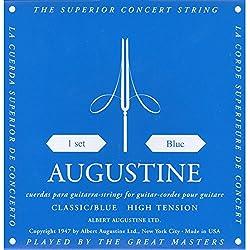 Augustine 7D56 - Juego de cuerdas para guitarra clasica, color azul