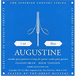 Augustine Standard Bleu Tirant Fort - Jeu de cordes guitare classique