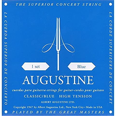 Augustine Klassik Gitarrensaiten Blue Label Satz Regular Tension/Basssaiten High