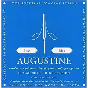 Augustine 650437 Corde per Chitarra Classica, Etichetta Blu, Set Standard-Cantini Regular Tensione, Corde Basse High Tensione
