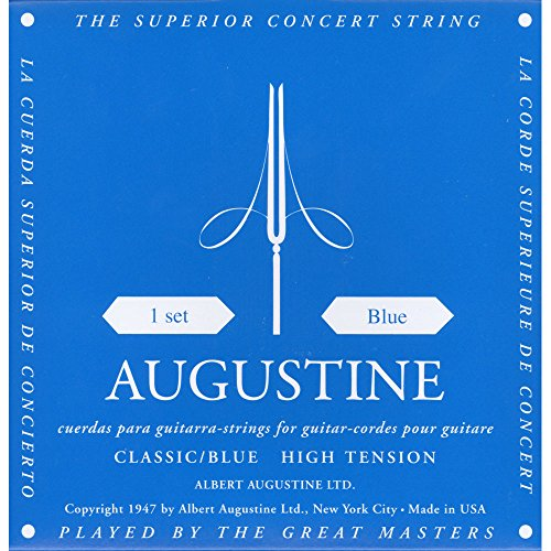 Augustine Klassik Gitarrensaiten Blue Label Satz Regular Tension/Basssaiten High Tension Test