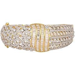 Swasti Jewels American Diamond CZ Fashion Jewellery Traditional Ethnic Bracelet Kada for Women ( WHITE )