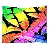 Violetpos Tapestry Indian Wandbehang Bettlaken Tapissery Tagesdecke Strand Decke Hippie Wand Hängende Dekor Bunt Fluoreszenz Bananenblätter Blätter 150x200 cm