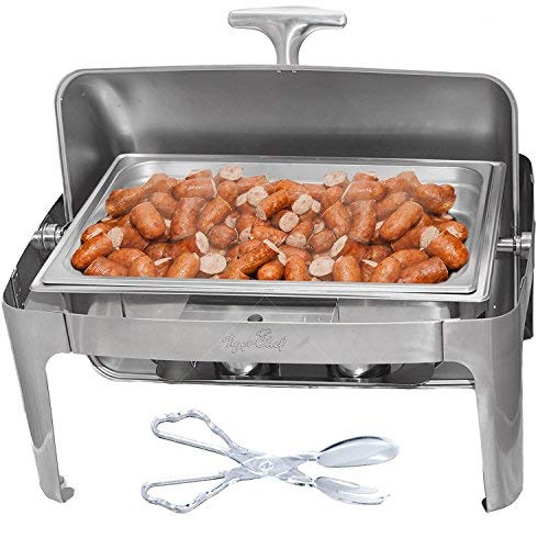 Tiger Chef Chafing Dish 8 Qt Roll Top silber Roll Top Chafer