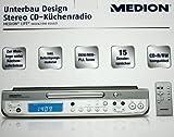 Medion MD81602 Unterbau Design Stereo CD-Küchenradio unterbaufähig mit Timer B-Ware
