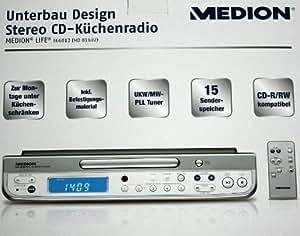 medion md81602 unterbau design stereo elektronik. Black Bedroom Furniture Sets. Home Design Ideas