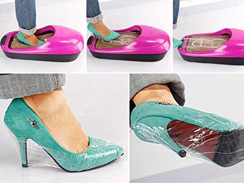 HHBO I pattini di scarpe monouso della copertura del pattino della macchina del pattino fanno funzionare gli insiemi automatici dei set di macchina dei pattini , rose red Green