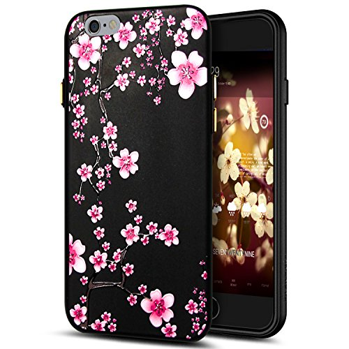 Cover iPhone 6S Plus,Cover iPhone 6 Plus,Custodia iPhone 6S Plus / iPhone 6 Plus Cover,ikasus® Cover custodia per iPhone 6S Plus / 6 Plus disegno colorato TPU con 3d arte pittura floreale fiore fiori  Fiore #12