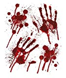 Image of Halloween Bloody Hands Window Stickers - Bloody designs HAND PRINTS with Blood Splatter
