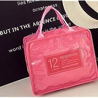 Preisvergleich für Yudanwin Leinwand-Lunch-Tasche Candy-farbige Wasserdichte Insulation Bag Lunch Bag (Pink)