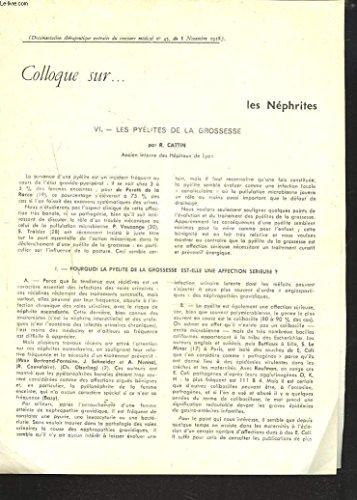 EXTRAIT DU CONCOURS MEDCAL N°45 DU 8 NOVEMBRE 1958. COLLOQUE SUR LES NEPHRITES. VI. LES PYELITES DE LA GROSSESSE.