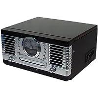 Roadstar HIF-9088TUMPN - Minicadena Hi-Fi con tocadiscos, CD y casete (puerto USB, lector de tarjetas SD) (importado)
