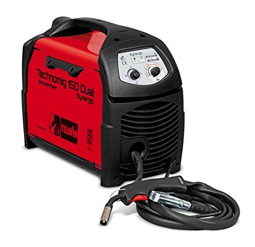 Telwin TECHNOMIG 150 Dual Synergic – 150 TECHNOMIG synergique Double – équipement soudure à fil (1,2 W, 230 V), rouge et noir