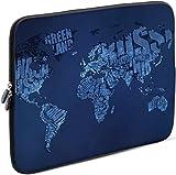 Sidorenko 11-11,6 Zoll Laptop Hülle - Laptoptasche für MacBook / Chromebook aus Neopren, Blau, 42 Designs zur Auswahl