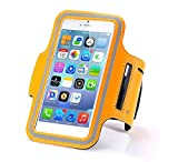 N+ INDIA Samsung Galaxy J7 Prime Fancy Sports Armband, Black Gym,Running, Jogging,Walking,Hiking,Workout and Exercise Armband Holder For Galaxy J7 Primewith Extra Adjustable-Length Extension Band Orange