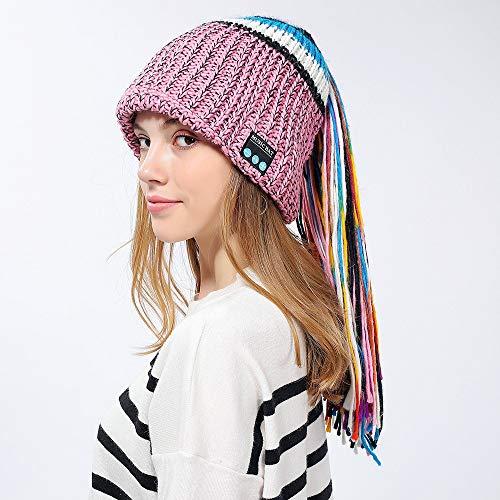 LETAMG Bluetooth Hut Winter Frauen Neuheit Hut Wireless Bluetooth 4.2 Smart Cap Kopfhörer Headset Lautsprecher Mic