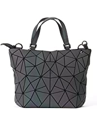 84cf09dd9f2e0 BUOU Damenhandtaschen Frauen Pailletten Luminous Spiegel Diamant Lattice  Bag Lady Fashion Geometrie Schultertasche Mädchen Tote Clutches