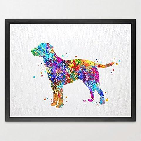 Dignovel Studios A4 Labrador Dog watercolour Print Wedding Gift Fine Art Print Children's Wall Art Wall Decor Art Home Decor Wall Hanging N132-Unframed