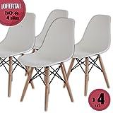 Nakura Set aus 4 Esszimmerstühlen mit Tower Design, Weiß