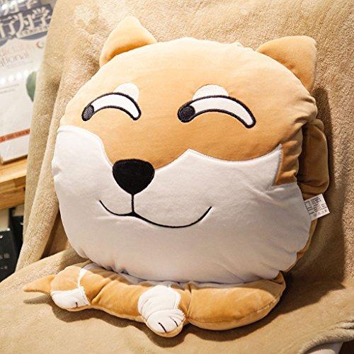 WYQLZ Tête de chien Expression Taie d'oreiller Quilt Double usage Bureau à la maison Taille Oreiller Nap Coussin Couverture ( conception : D )