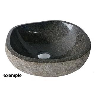 Lavabo en piedra natural, diametro 35 cm. Elección sobre fotos con dimensiones exactas.