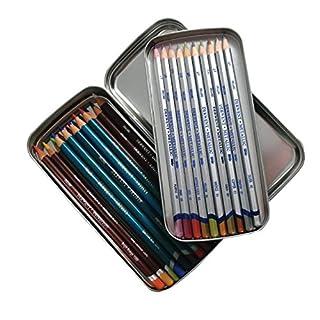 Crayon Étain Derwent, double couche de stockage avec plateau Intérieur amovible