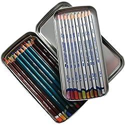 Derwent 2300582 - Estuche de metal para lápices, color gris