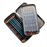 Derwent Pencil Tin, Double Layered Storage with Removable Inner Tray