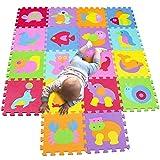MQIAOHAM alfombra infantil puzzle bebe suelo goma eva parque juego niños foam colchoneta bebes juegos manta para alfombras infantiles zona acolchado juguetes P014019G300918