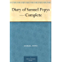 Diary of Samuel Pepys - Complete (English Edition)