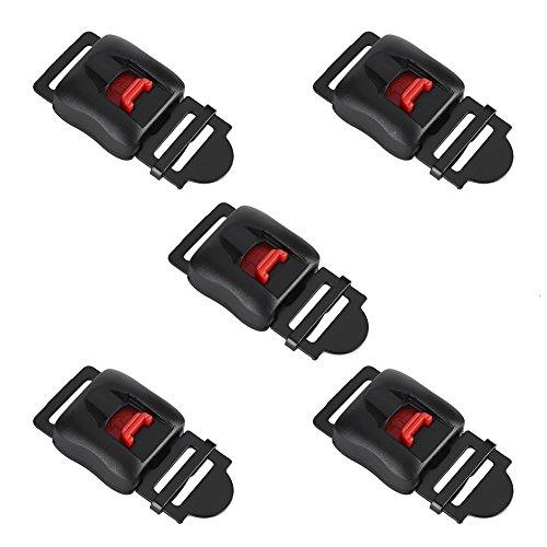 Keenso 5 stücke Schnellverschluss Schalter Sichere Motorrad- oder Fahrradhelme Clip Kinnriemen Trennen Schnalle