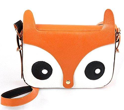 Borsa a spalla a forma di borsetta da Fox TheWin rosa arancione