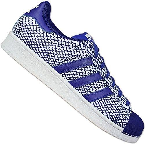 Adidas Superstar Snake Pack - Zapatillas para Hombre, Color Azul/Blanco, Talla 39 1/3