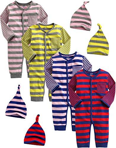 Vaenait Baby Saugling Infant Maedchen 4 Pack One Piece Bodysuit Spy Kids Girl 9-12M