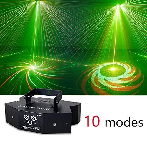 Disco Lichter Party Ball Projektor Bühne Kristall Lampe 10 Modi Muster mit Fernbedienung für Urlaub, Home Party, Bar, DJ, KTV, Geburtstag -601 -