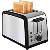 Toaster 2 Slice Toaster With Warming Rack Brushed Stainless Steel For Breakfast Wide Slot Bread Toasters Best Rated Cool Touch Has Defrost Reheat Cancel Button Removable Crumb Tray By KEEMO