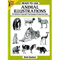Ready-To-Use Animal Illustrations: 161 Different Copyright-Free Designs Printed One Side