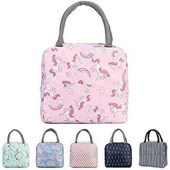 Flamingo/&Rainbow Horse GOTONE 2Pack Lunch Bag Insulated Container Reusable /& Multi-use for Men Travel Picnic School Lunch Box Collapsible Tote Bag with Front Pocket Women and Kids Zipper Closure