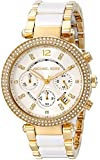 MICHAEL KORS Parker Womens Quartz Watch with White Dial and Gold Stainless Steel Bracelet MK6119