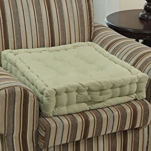 homescapes sage green supportive armchair booster cushion. Black Bedroom Furniture Sets. Home Design Ideas