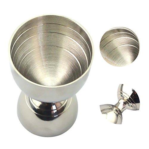 GEZICHTA 304Edelstahl Cocktail Jigger, Bar-Doppelmaß Bell Jigger, Messbereich 30ml/60ml Bar Spirit