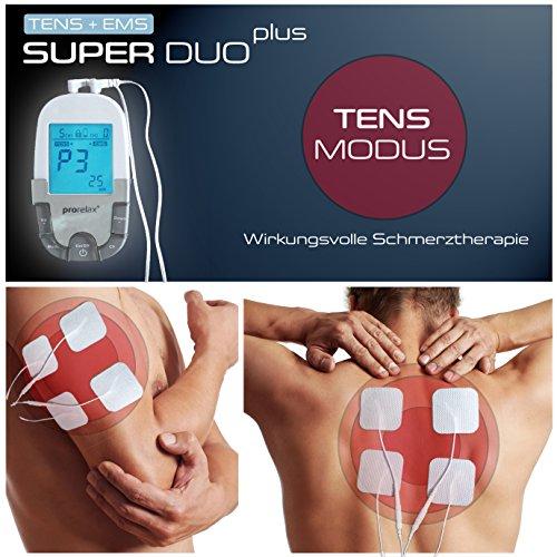 prorelax Tens/Ems SuperDuo Plus. Elektrostimulationsgerät mit besonders umfangreichem Zubehörset - 7