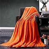 SOMESUN Super Weich Gemütlich Flanell Kuscheldecken Mode Einfarbig Kinder Warm Koralle Mittag Schlaf Decke Zum Zuhause Dekor Schlafzimmer Sofa Büro Auto (Orange, 70 x 100 cm)