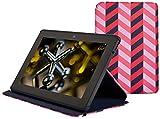 Jonathan Adler Hülle für Kindle Fire HDX (3 - Generation - 2013 Modell), Pink Herringbone - Verso