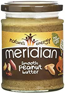 Meridian Natural Smooth Peanut Butter No Added Sugar and No Added Salt 280 g (Pack of 6)