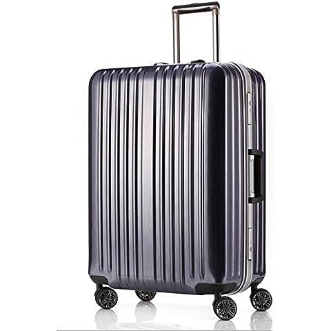 MHGAO Borsa bagagli valigia universale per ruote Trolley scatola in lega alluminio magnesio , purple , 28 inch