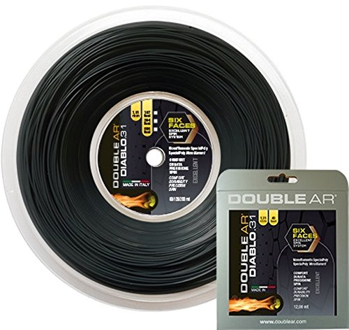 Double AR - Seil Tennis Diablo 31 Monofilament co-poliestere 1.31 mm, schwarz -